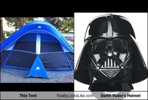 This Tent Totally Looks Like Darth Vader's Helmet