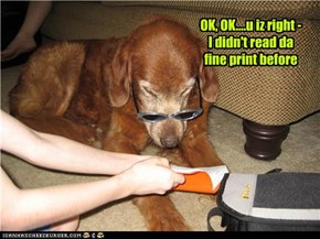 OK, OK....u iz right - I didn't read da fine print before