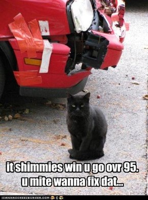 it shimmies win u go ovr 95. u mite wanna fix dat...