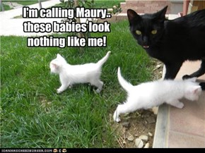 I'm calling Maury..  these babies look  nothing like me!