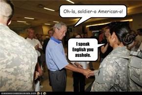 Oh-la, soldier-o American-o!