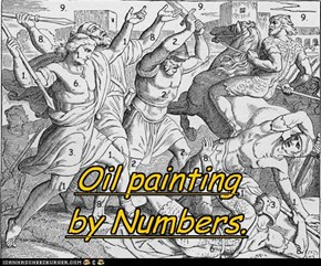 Oil painting by Numbers.