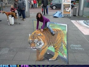 Hey Get Off That Tiger!