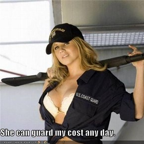 She can guard my cost any day.