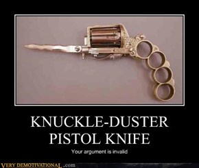 KNUCKLE-DUSTER PISTOL KNIFE