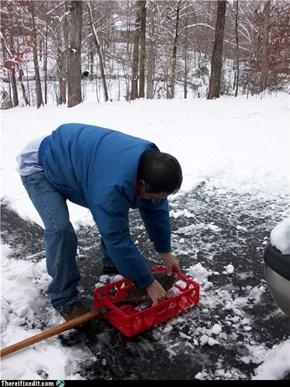 Redneck Snowshovel