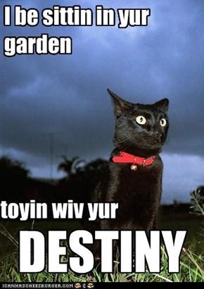 I be sittin in yur  garden
