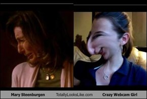 Mary Steenburgen Totally Looks Like Crazy Webcam Girl
