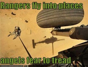 Rangers fly into places  angels fear to tread