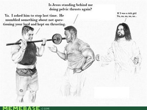 Lol Jesus: Working It