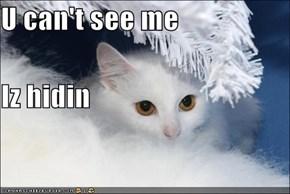 U can't see me Iz hidin