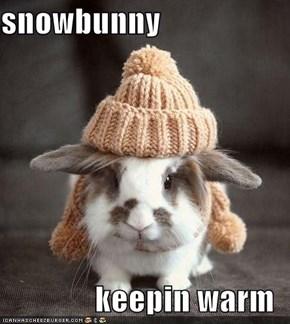 snowbunny  keepin warm