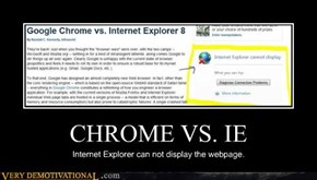 CHROME VS. IE