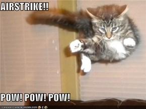 AIRSTRIKE!!  POW! POW! POW!