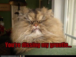 You're dissing my gruntle...