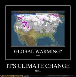 IT'S CLIMATE CHANGE