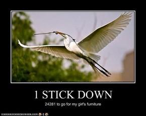 1 STICK DOWN