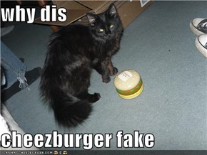 why dis  cheezburger fake