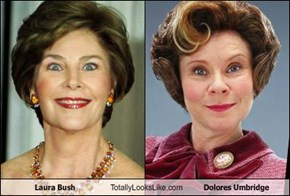 Laura Bush Totally Looks Like Dolores Umbridge