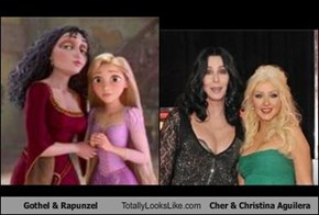 Gothel & Rapunzel Totally Looks Like Cher & Christina Aguilera