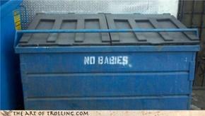 Classic: IRL Dumpster Troll