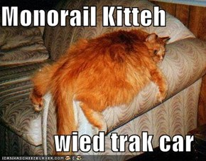 Monorail Kitteh  wied trak car
