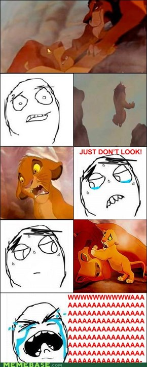 Rage Guy watches Lion King