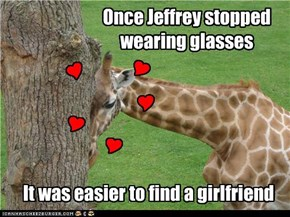 Once Jeffrey stopped wearing glasses