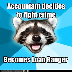 Lame Pun Coon: Accountant decides to fight crime