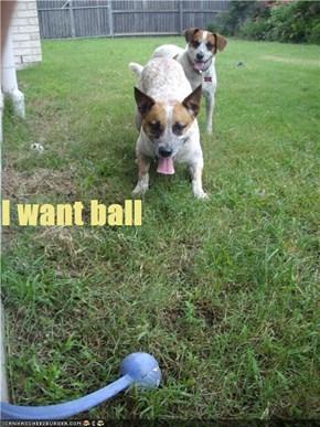 I want ball