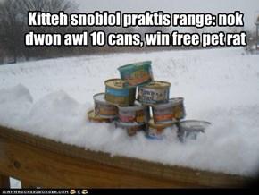 Kitteh snoblol praktis range: nok dwon awl 10 cans, win free pet rat