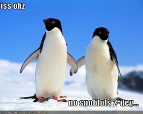 iss okz  no snoblols 2-dey...