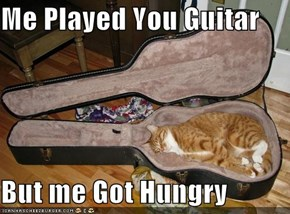 Me Played You Guitar  But me Got Hungry