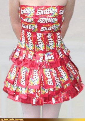 Funny Food Photos - Skittles Dress