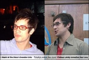 Panic at the Disco's brendon Urie Totally Looks Like Chelsea Lately comedian Dan Levy