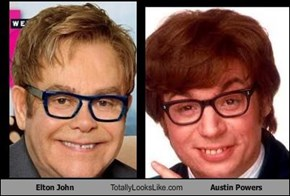 Elton John Totally Looks Like Austin Powers