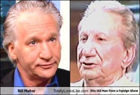 Bill Maher Totally Looks Like this Old Man from a Foreign Show