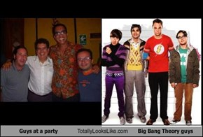 Guys at a party Totally Looks Like Big Bang Theory guys