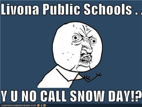 Livona Public Schools . . .  Y U NO CALL SNOW DAY!?