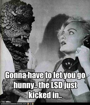 Gonna have to let you go hunny.. the LSD just kicked in..