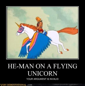 HE-MAN ON A FLYING UNICORN