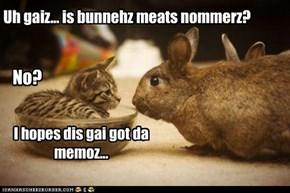 Meat nommin bunnehz?!