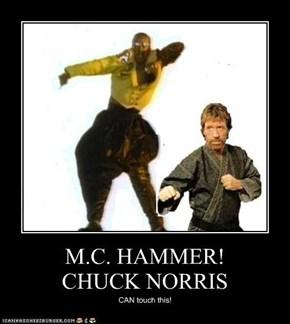 M.C. HAMMER!  CHUCK NORRIS