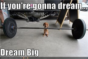 If you're gonna dream...  Dream Big