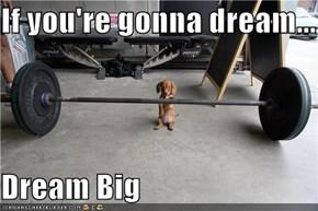 If you're gonna dream...  Dream Big