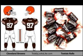 Cleveland Browns Totally Looks Like Tootsie Rolls