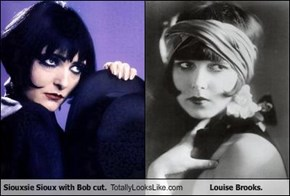 Siouxsie Sioux with Bob cut. Totally Looks Like Louise Brooks.