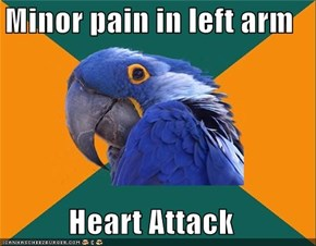 Paraniod Parrot: Pain In Left Arm