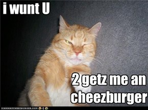 i wunt U 2 getz me an cheezburger.