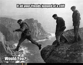 If all your friends jumped of a cliff